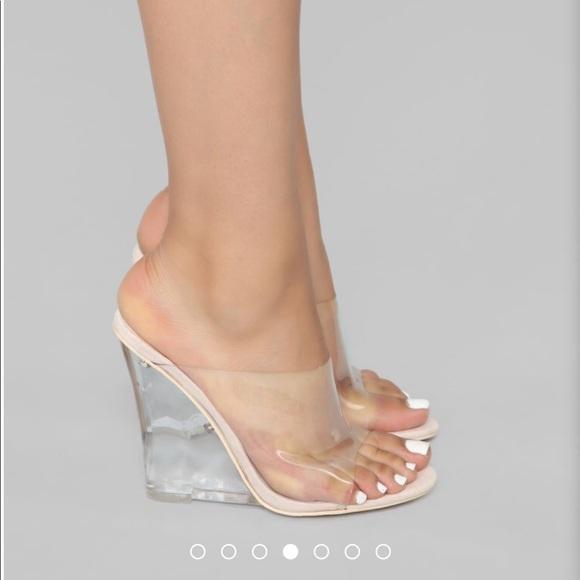 f3036e7e091 Fashion Nova Shoes - Fashion nova glass wedge